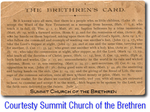 Brethren's Card Small